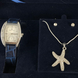 Bella Rose Accessories - Bella Rose Watch Star Fish and CZ Earrings NIB